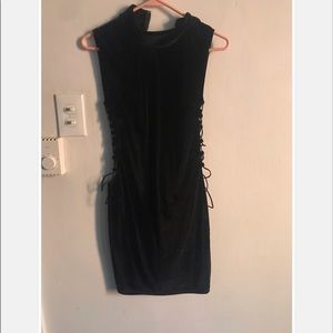Never worn black cut out dress